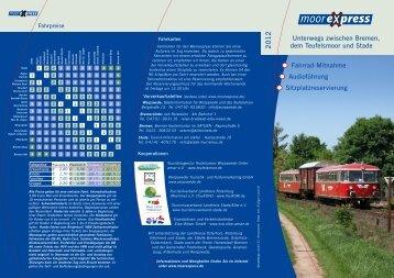 Moorexpress – Unterwegs zwischen Bremen, dem ... - Worpswede
