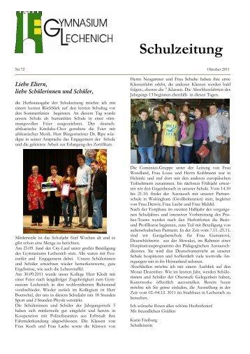 Schulzeitung - Ausgabe Herbst 2011 - Gymnasium Lechenich Erftstadt