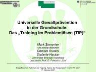 Vortrag von Prof. Dr. Mark Stemmler, Universität Bielefeld