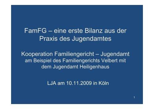 FamFG – eine erste Bilanz aus der Praxis des Jugendamtes