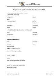 Fragebogen für geistig behinderte Menschen in einer WfbM
