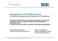 Vortrag LVR-Dezernentin Hoffmann-Badache im Rahmen eines