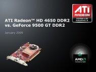 ATI Radeon™ HD 4650 DDR2 vs. GeForce 9500 GT ... - AMD News