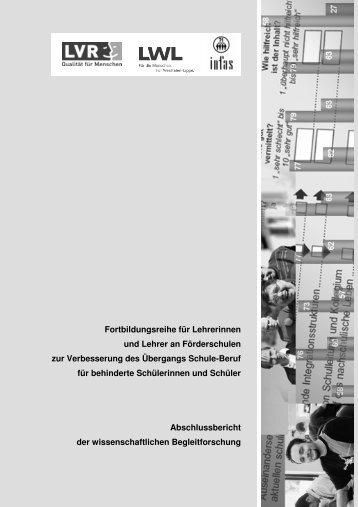 Abschlussbericht infas - Landschaftsverband Rheinland