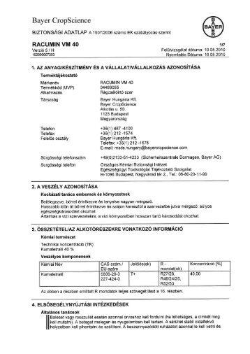 Racumin VM 40 - Bayer CropScience