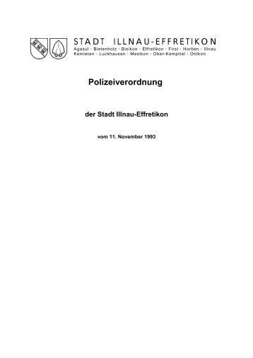 Polizeiverordnung der Stadt Illnau-Effretikon