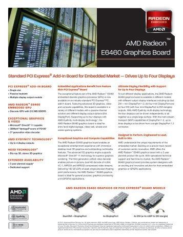 AMD Radeon E6460 Graphics Board