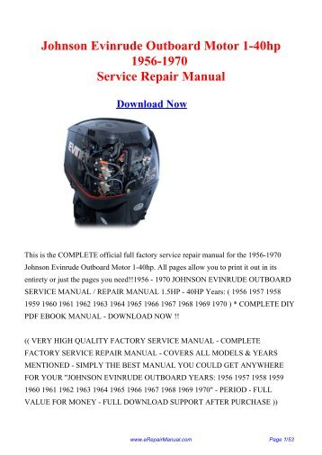 Bike kawasaki en4 johnson evinrude outboard motor 1 40hp 1956 repair manual fandeluxe Choice Image