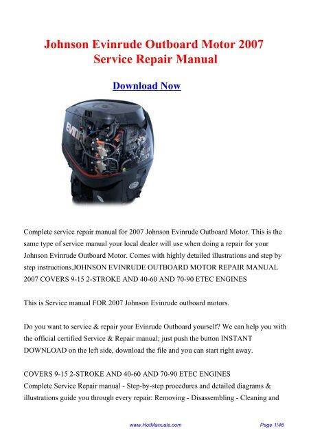johnson outboard engine repair