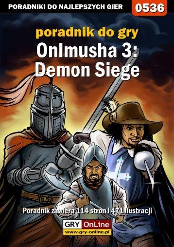 Nieoficjalny poradnik GRY-OnLine do gry Onimusha 3 ... - Gandalf