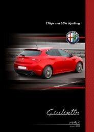 Prijslijst Giulietta - Alfa Romeo Download