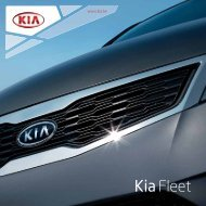 Downloaden Fleetbrochure - Kia Motors Belgium