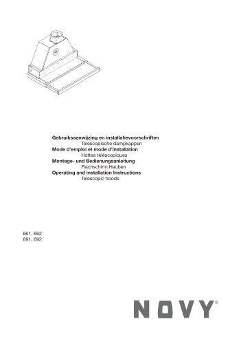 Gebruiksaanwijzing en installatievoorschriften Telescopische ... - Novy