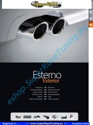 Catalogo PDF Accessori AUTO ESTERNI - SUPERRACE