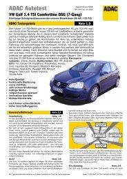 VW Golf 1.4 TSI Comfortline DSG - ADAC