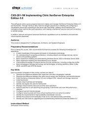 CXA-204-1W Basic Administration for Citrix XenApp 6 - Qwise