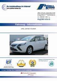 OPEL ZAFIRA TOURER - Jütten & Koolen Automobile GmbH
