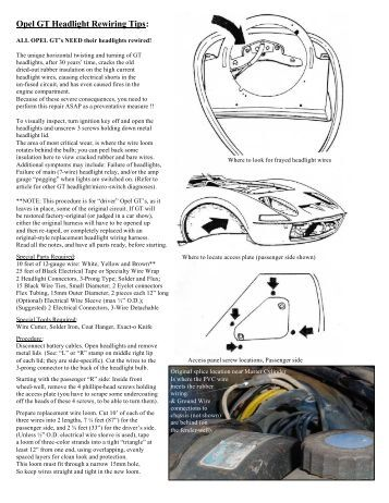 1972 opel gt wiring diagram - wiring diagram and schematic, Wiring diagram
