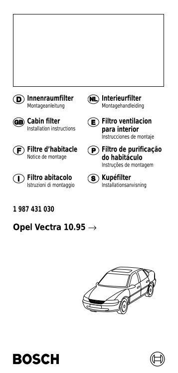 Opel Vectra 10.95 → - Bosch