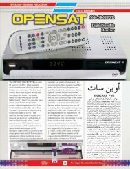 Opensat 3000 CRCI - Dish Channels - International Satellite Magazine