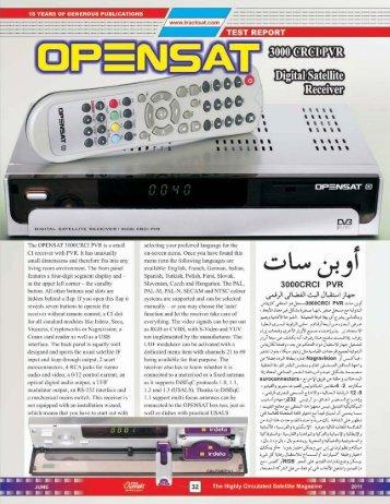 Opensat 3000 CRCI - Dish Channels - International Satellite Magazine