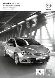 New Opel Astra GTC - Opel Schweiz