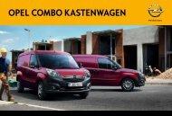 Combo Kastenwagen Prospekt - Opel Schweiz