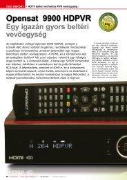Opensat 9900 HDPVR - TELE-satellite International Magazine