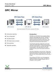 OPC Mirror - Emerson Process Management
