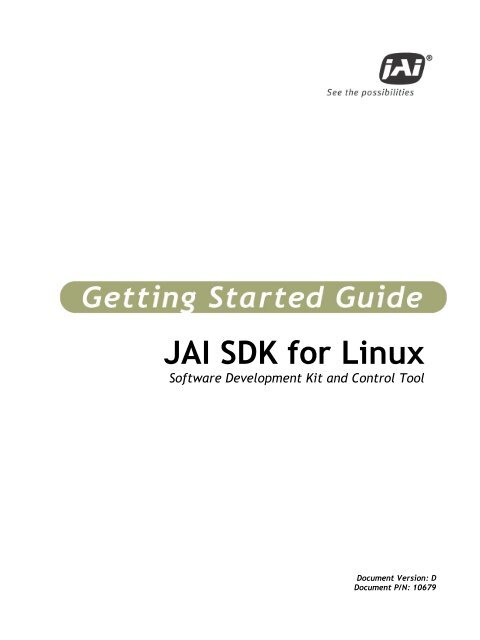 JAI SDK for Linux – Getting Started Guide
