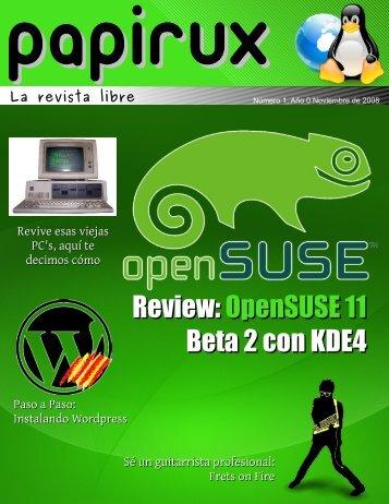 Review: OpenSUSE 11 Beta 2 con KDE4