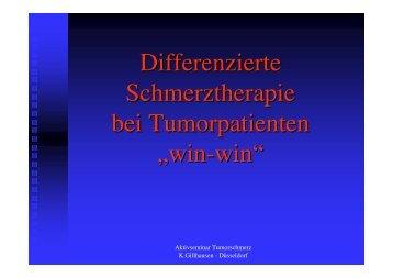 Schmerztherapie nach dem WHO-Stufenschema - bei der ...