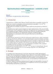 Agranulocytose médicamenteuse : conduite a tenir (143) - Serveur ...