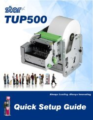 TUP500 Quick Start Guide - Star Micronics