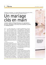 Un mariage clés en main - Mariage sans soucis
