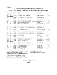 2012/13 Winter Composite Schedule - Eastern Connecticut State ...