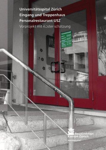 Universitätsspital Zürich Eingang und Treppenhaus - hemmi-fayet
