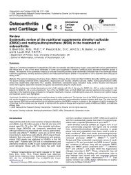 Systematic review of the nutritional supplements dimethyl sulfoxide ...
