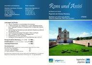 Rom und Assisi mit Besuch von Verona - Bayerisches Pilgerbüro