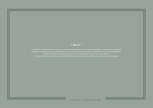 Jaarverslag 2006 - Service public fédéral Chancellerie du Premier ...