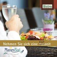 Speisekarte herunterladen - MarienBad