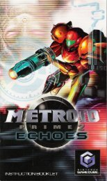 Metroid Prime 2: Echoes - Nintendo GameCube - Manual ...