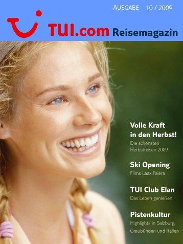 TUI.com Reisemagazin Oktober