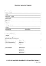 Personalbogen für kurzfristig Beschäftigte Name / Vorname ...