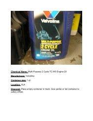 Valvoline TC-W3 engine oil