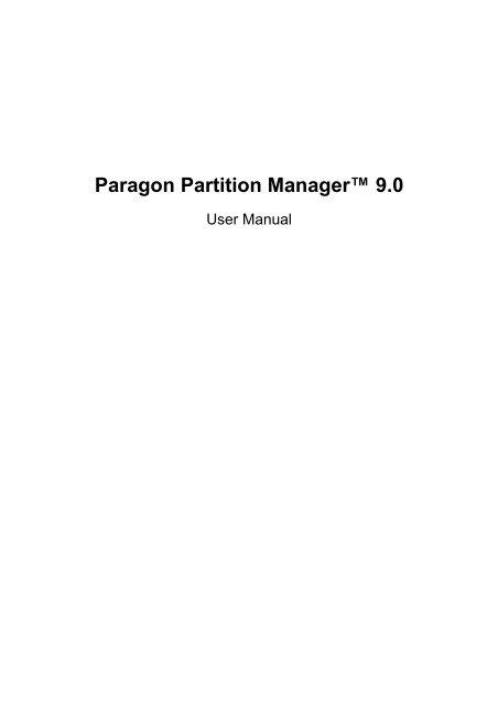 paragon partition manager iso скачать