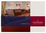 Geschäftsbericht 2008 - Hotel Hof Weissbad