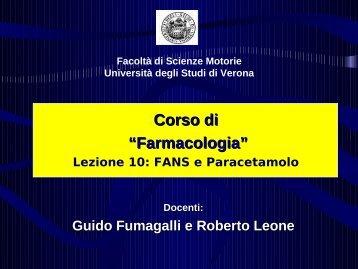 Reazioni renali da FANS - Università degli Studi di Verona