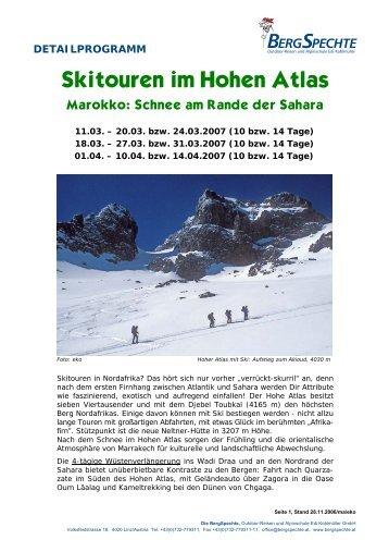 Skitouren im Hohen Atlas - Gerhard Hacker
