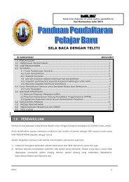 UNIKL MIAT Panduan Pendaftaran - UniKL Admission - Universiti ...